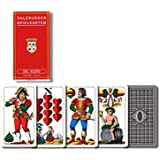 "Dal Negro: ""Saltzburger Spilencarten"" Traditional deck of playing cards regional Salzburg with red case. Deck of 40 cards [ Italian Import ]"