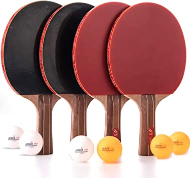 Ok Table Tennis Classic Paddle Ping-Pong Gaming Bat Pro Racket Rubber Face Play
