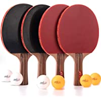 Jebor Professional Ping Pong Paddles Advanced Trainning Table Tennis Racket with Carry Case, 7 ply Wooden Blade with…