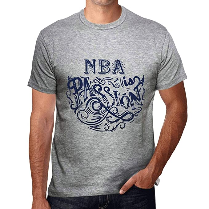 One in the City Hombre Camiseta Gráfico T-Shirt NBA Is Passion Gris Moteado: Amazon.es: Ropa y accesorios
