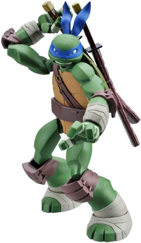 SNFHL Figura Acción, Figura Acción Tortugas Ninja Mutantes Adolescentes, Colección Cumpleaños Juguete Modelo Personaje Infantil Dibujos Animados, Azul 15cm,15cm-Blue