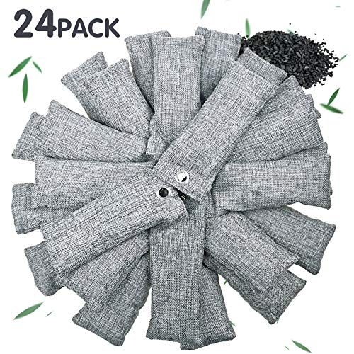 24 Pack Bamboo Charcoal Air Purifying Bag for Shoes