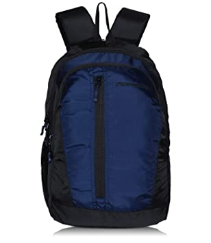Adamson Simple Model Black and Blue Laptop Backpack(ABP-048)