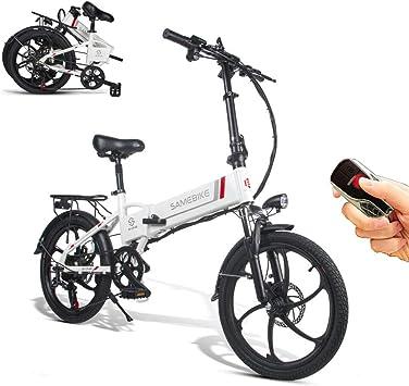 Bicicleta eléctrica Samebike con mando a distancia, 20 pulgadas ...