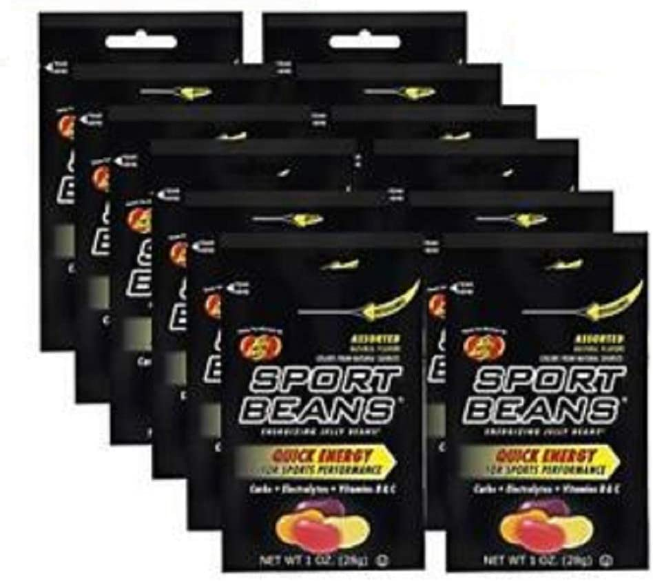 Jelly Belly Sport Beans [12-Pack] Assorted Sport Beans (Orange, Fruit Punch, Green Apple, Juicy Pear, Lemon Lime, Berry) Click for More Sizes