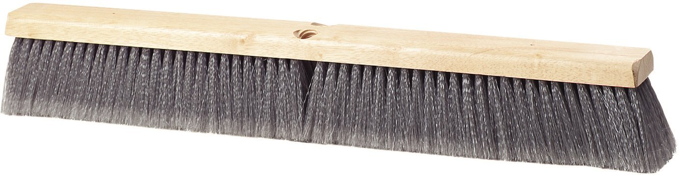 Carlisle 3621953623 Hardwood Block Flagged Floor Sweep, Polypropylene Bristles, 36'' Block Size, 3'' Bristle Trim, Gray