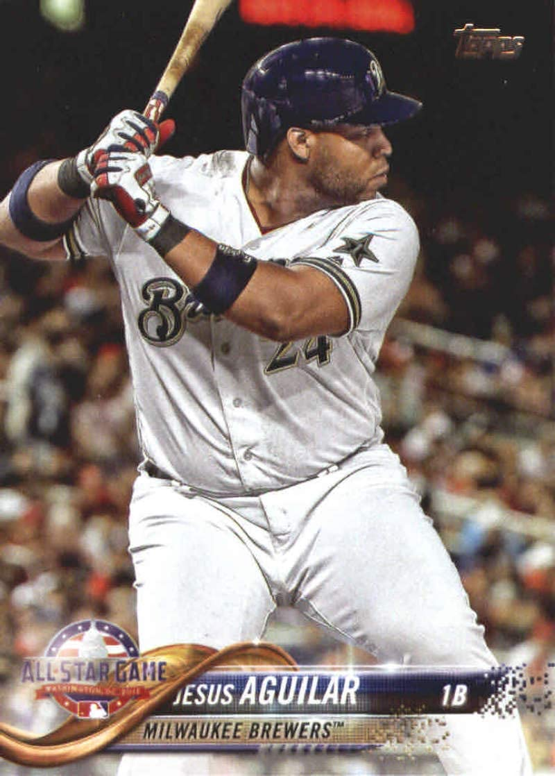 2018 Topps Update and Highlights Baseball Series #US113 Jesus Aguilar Milwaukee Brewers Official MLB Trading Card