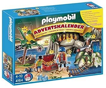 Calendrier L Avent Playmobil.Playmobil 4164 Jeu De Construction Calendrier De L Avent Tresor Des Pirates