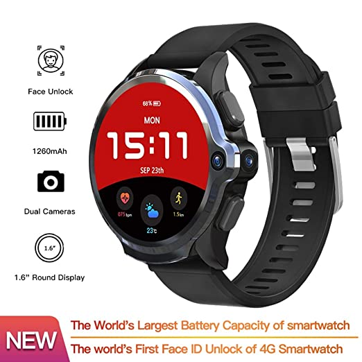 QAIYXM Reloj Inteligente GPS, 3GB 32GB SmartWatch Teléfono 1260Mah ...