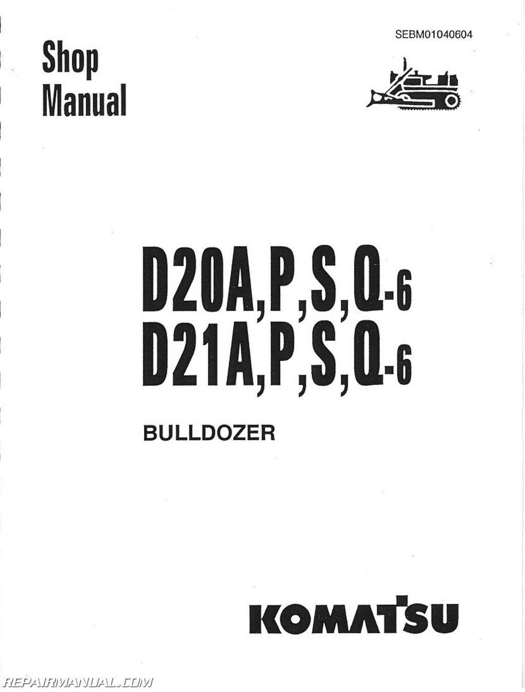 JS-KOM-S-D20AP-PLUS Komatsu D20 D21 D31 D37 CHASSIS ONLY Service Manual:  Manufacturer: Amazon.com: Books