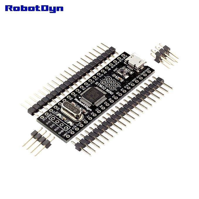 RobotDyn - Original STM32F103C8T6 STM32 ARM Cortex-M3 Minimum System  Development Board  (STM bootloader STM32F103C8T6, Not Soldered)