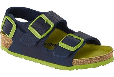 294c819a5f1 Amazon.com  Birkenstock Milano Kids Desert Soil Navy Birko-Flor Infant  Strap Sandals  Shoes