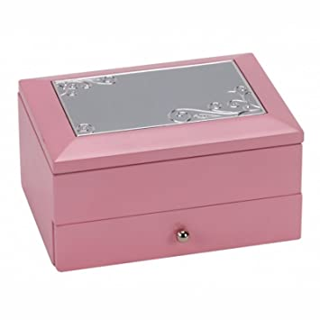 Personalised Pink Wooden Two Tier Jewellery Trinket Box Engraved Enter Your Own Custom Text