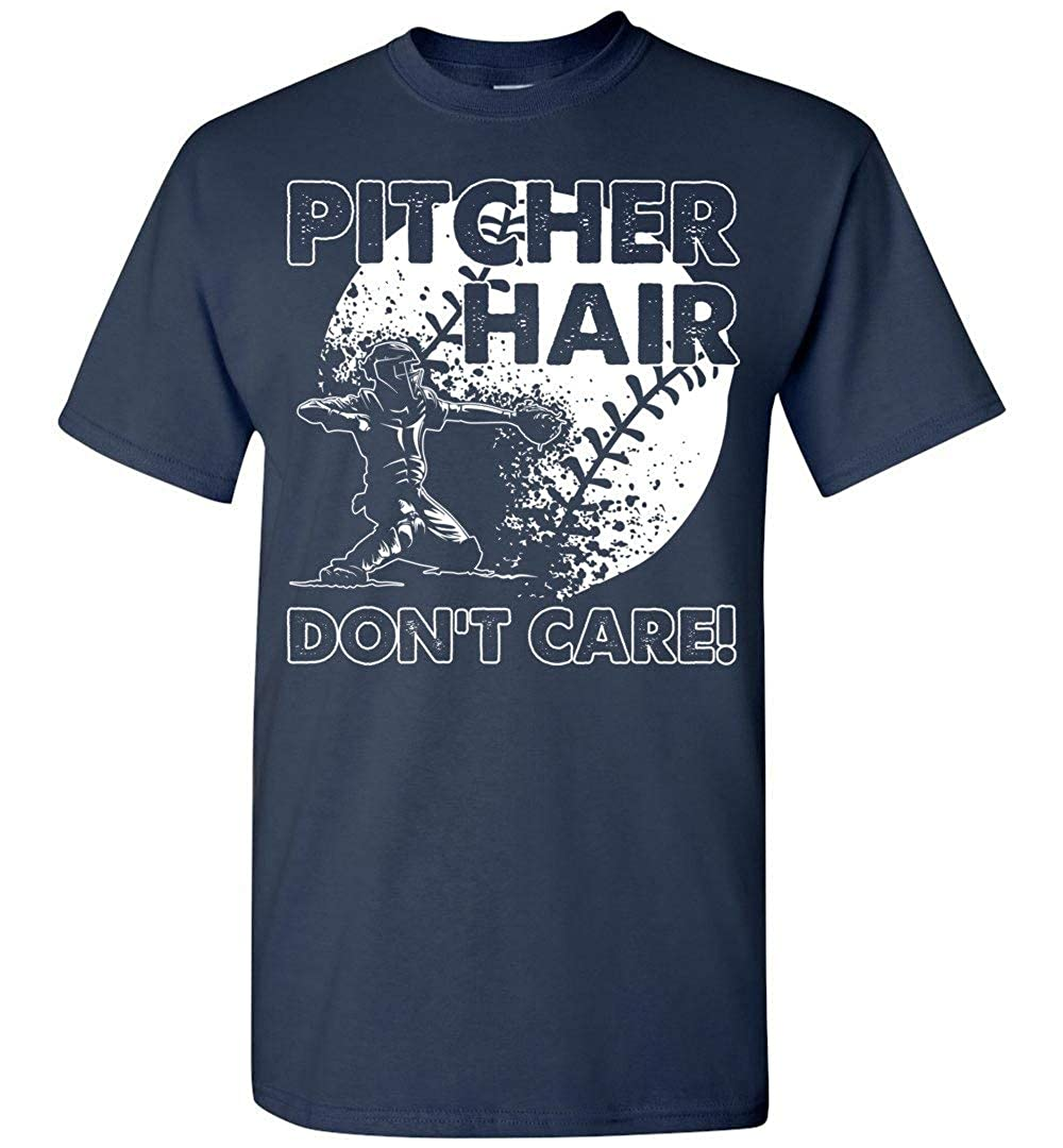 Pitcher Hair Dont Care T Shirt Dura Jonah Softball