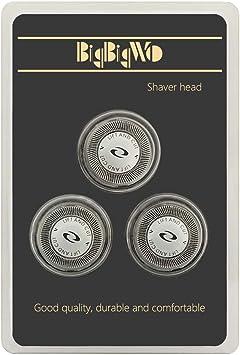 BigbigWo 3 piezas Cuchilla Cabezales de Afeitado para Philips PT710 PT715 PT721 PT726 HQ64 Shaver Heads: Amazon.es: Salud y cuidado personal
