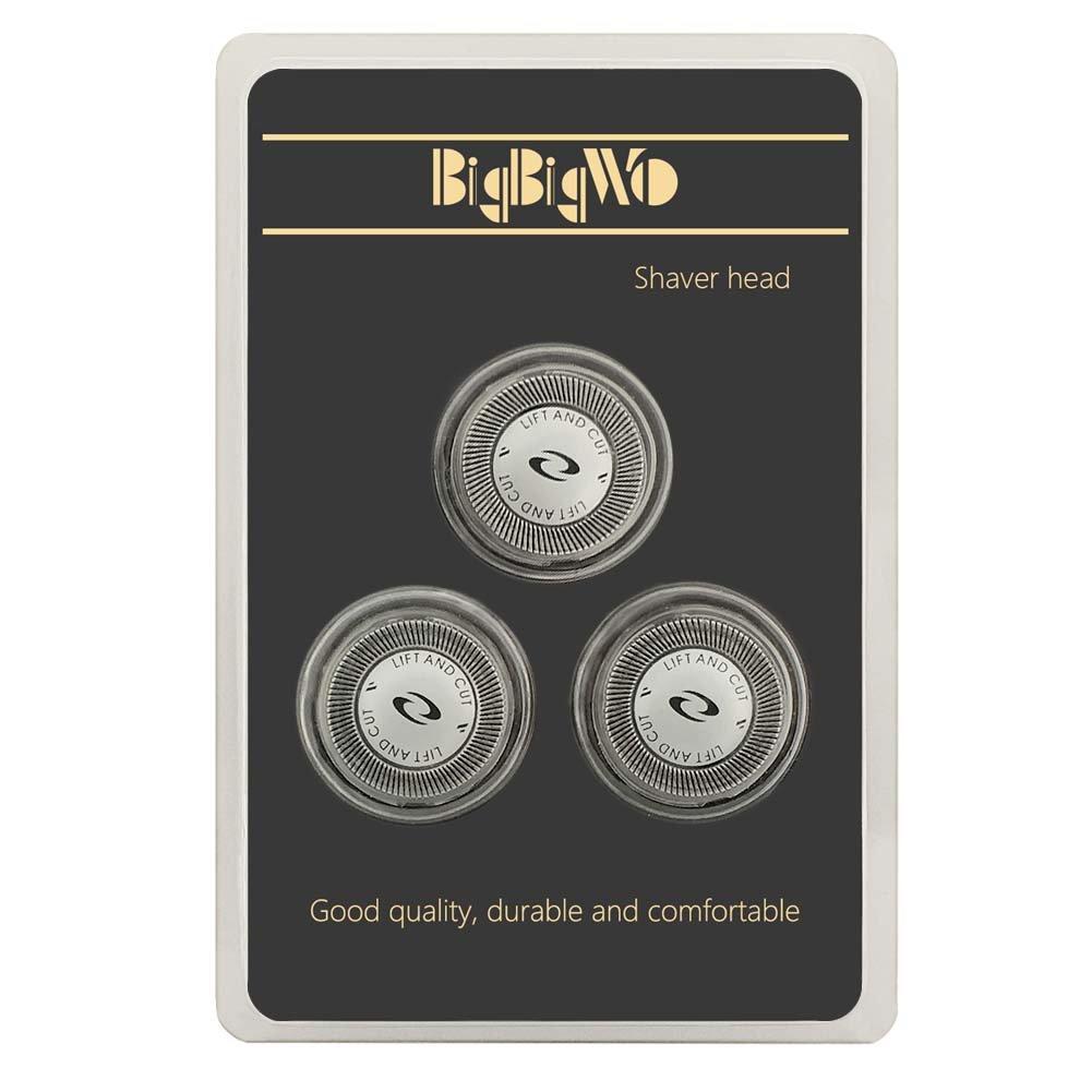 BigbigWo 3 x Dual Cutters Cuchillas Cabezal de Afeitado Reemplazo para Philips HQ6940 con Máquina de afeitar cepillo de limpieza: Amazon.es: Salud y cuidado personal
