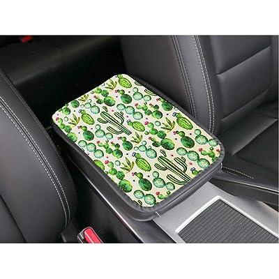 RANXIZY Neoprene Center Console Armrest Pad Cover Konsole Armour Universal Fit,Cactus: Automotive