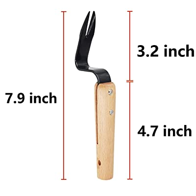 Glarks 4Pcs Hand Weeder Tools with Anti-Cutting Gloves Set 2Pcs Garden Weeding Tools Garden Weeding Removal Gardening Weed Puller for Garden Lawn Yard