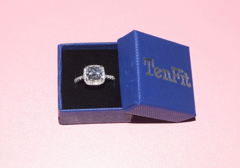 TenFit Jewelry 3 Carat VVS1 Simulated Diamond Engagement ring for Women silver Wedding Jewelry, Size:7 by TenFit