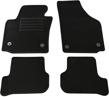 Bj 9//05-10//12 Schwarz fr Seat Leon 1P AD Tuning GmbH HG11593 Velours Passform Fu/ßmatten Set Mod