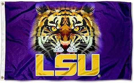 Louisiana State LSU Tigers bandera de ojos de tigre: Amazon.es ...