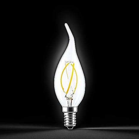 LEDbyLED Bombilla de filamento E14, 4 W, 3.5 x 12 cm: Amazon ...