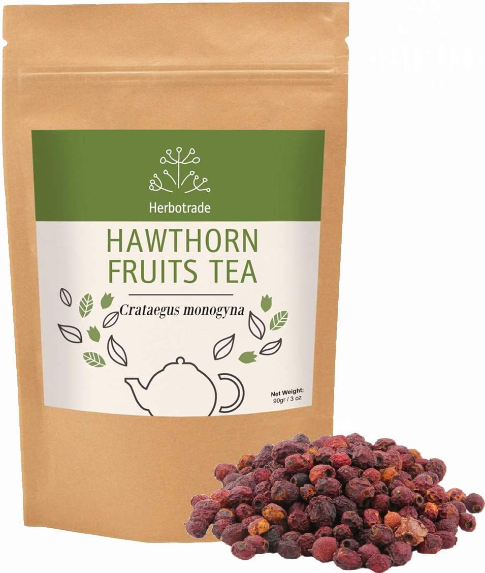 Hawthorn Berries Crataegus monogyna Dried Fruits Herbal Tea Loose 3 oz 90gr wildcrafted