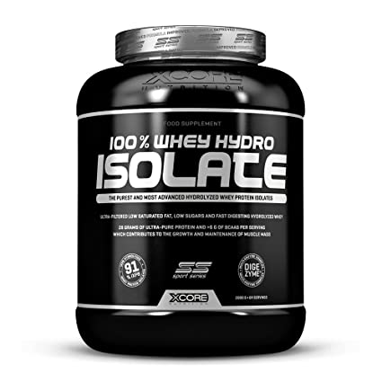 Xcore Black 100% Whey Hydro Isolate SS - Suplemento para deportistas, sabor a vainilla