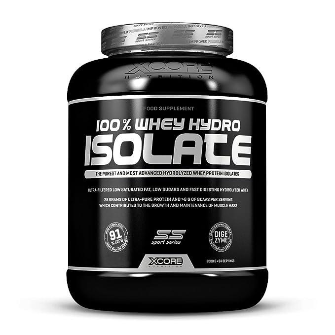 Xcore Black 100% Whey Hydro Isolate SS - Suplemento para deportistas, sabor a galletas