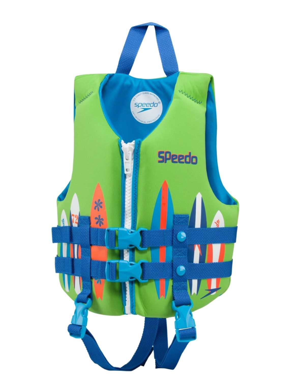 Speedo Swimネオプレンライフジャケットベスト – 重量30 – 50ポンド。  Green/Blue B01MAWB504