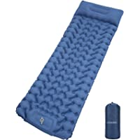 Loowoko Sleeping Pad Camping Mat for Backpacking Gear - Hiking Air Mattress Ultralight Camping Pads with Build-in…