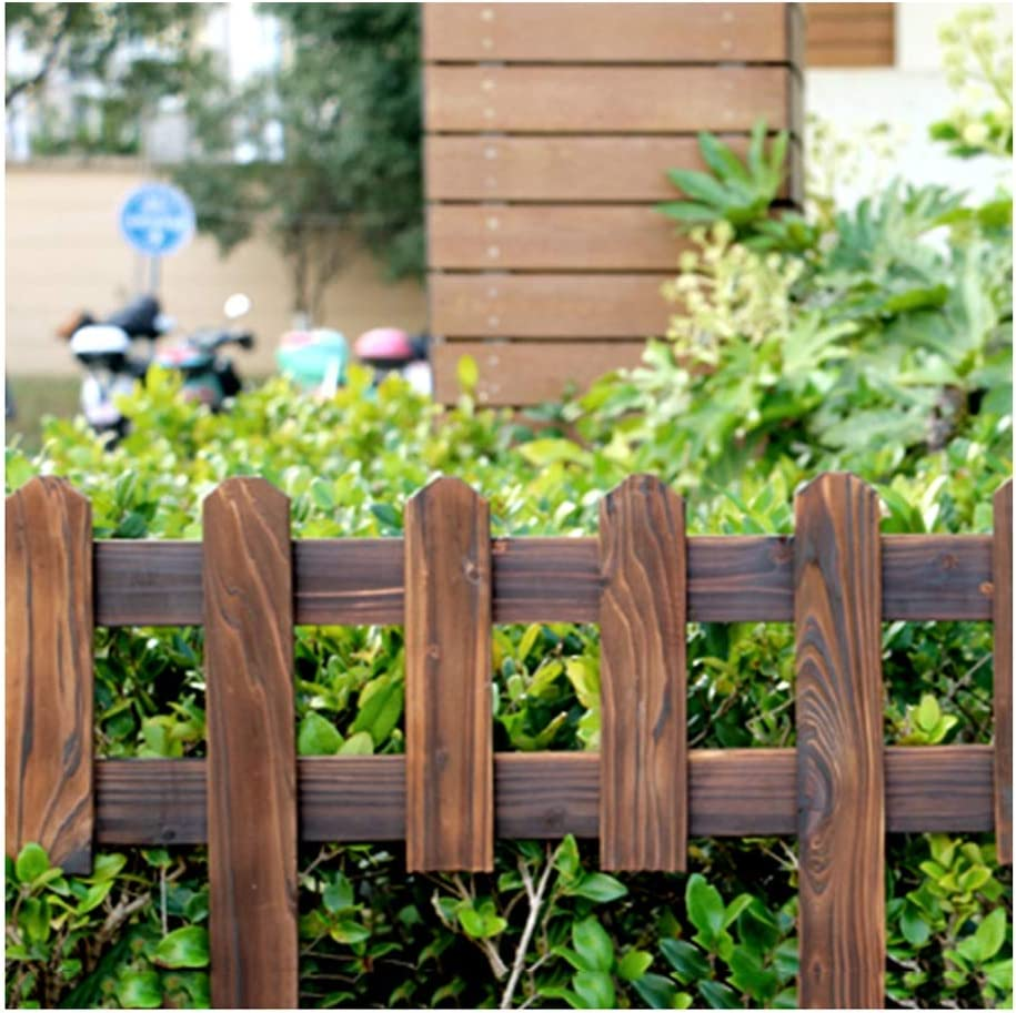 ZHANWEI Valla de jardín Carbonización Madera Maciza Césped Parque Bordura de jardín Decorativo Paneles De Borde De Borde, 5 Tamaños (Color : 1pc, Size : 90x90cm): Amazon.es: Jardín