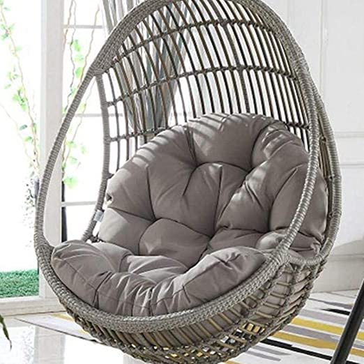 Amazon Com Waqia Hanging Basket Hanging Egg Chair Cushions Hammock Chair Cushions Thick Nest Back Pillow For Outdoor Patio Garden Swing Chair Cushion Seat Pads Grey Kitchen Dining