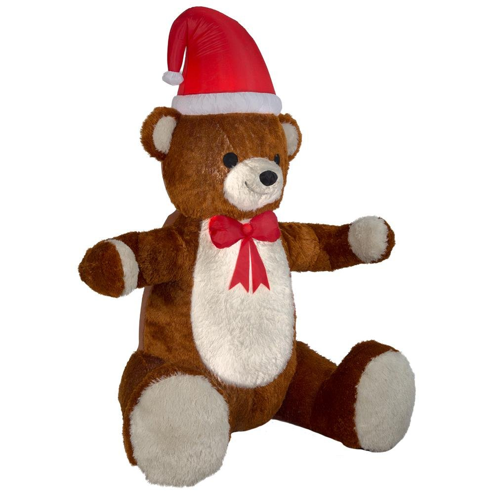 7.5 ft. Animated Inflatable Plush Hugging Teddy Bear by Home Accents
