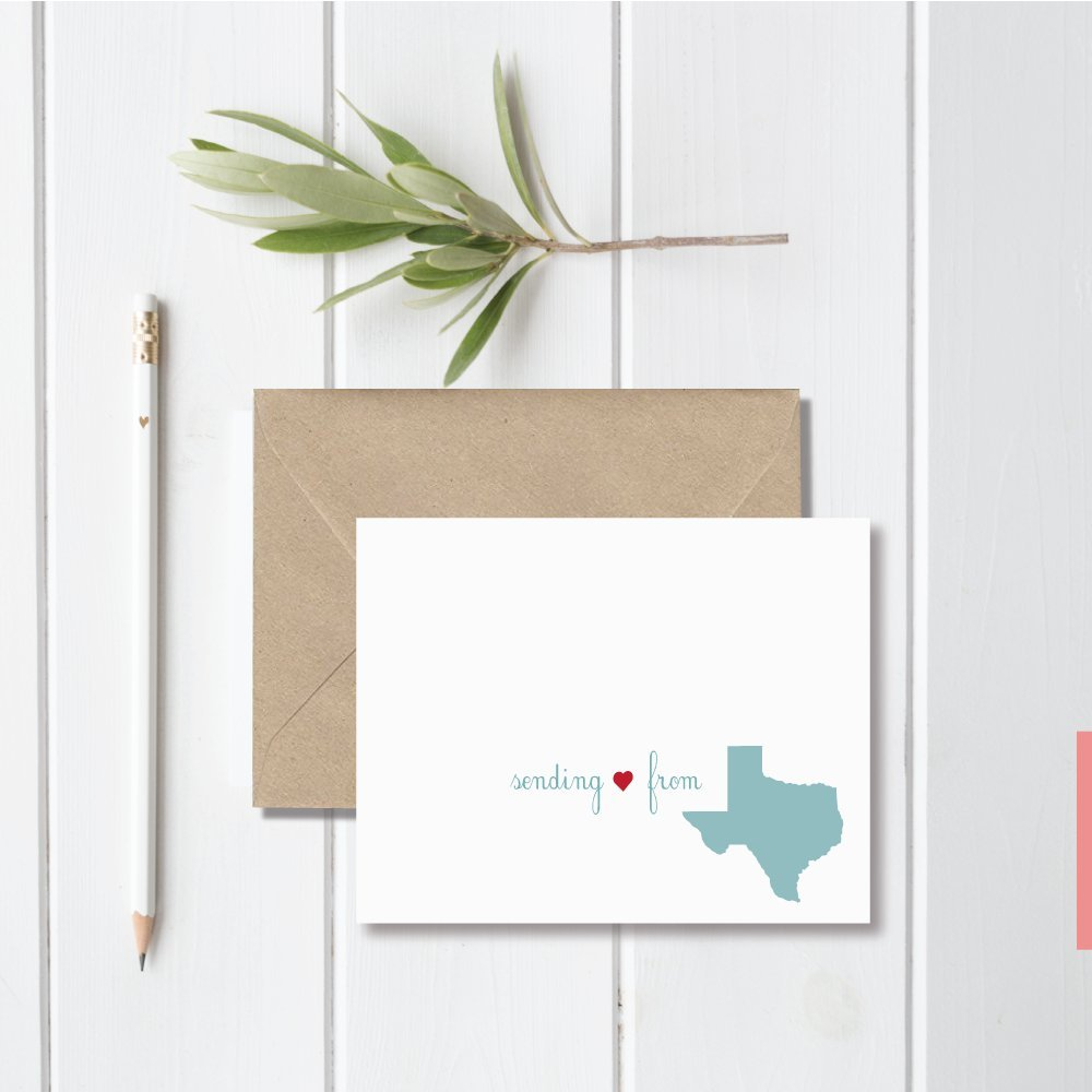 Long Distance Relationship Gift by Sweet Bella Stationery