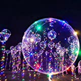 10 Pcs Balloon String Lights,20 Inch 3M LED Light Up Balloon Led String Colorful Bobo Balloon Bubble for Outdoor Festival Party Wedding Decor
