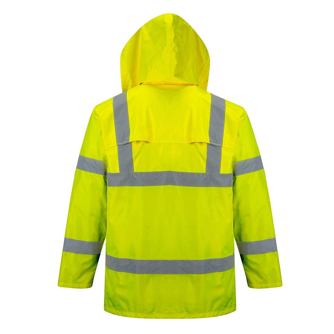 Portwest Waterproof Rain Jacket, Lightweight, Yellow, Medium by Portwest (Image #3)