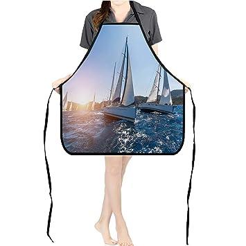 Amazon com: Jiahong Pan Professional Bib Aprons Yachts at