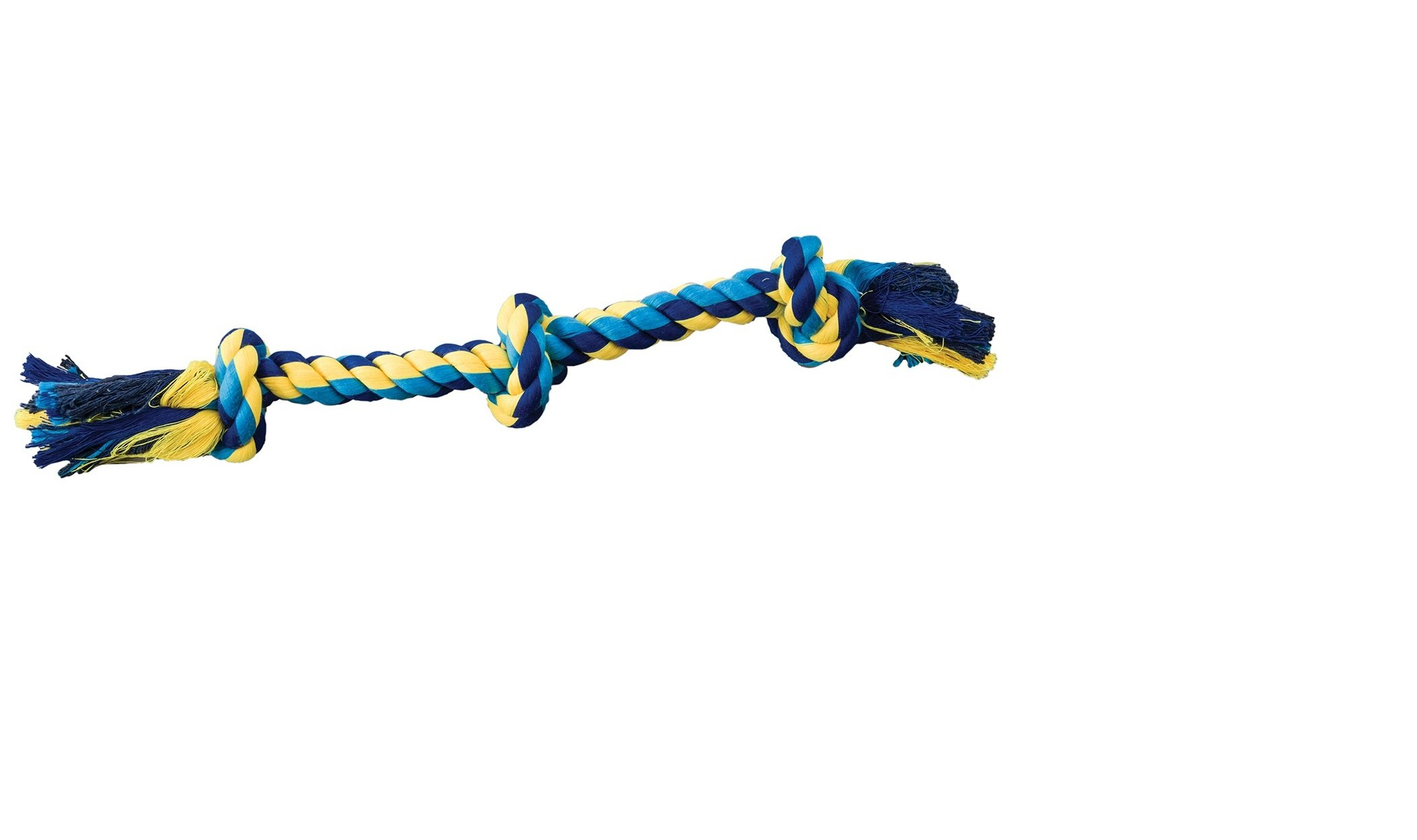 Ethical Pets Dental Rope 3-Knot Chew Toy, X-Large/36'' (Assorted Color)