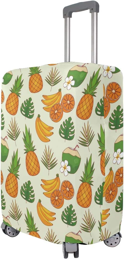 Travel Luggage Cover Tropical Pattern Pineapple Banana Suitcase Protector