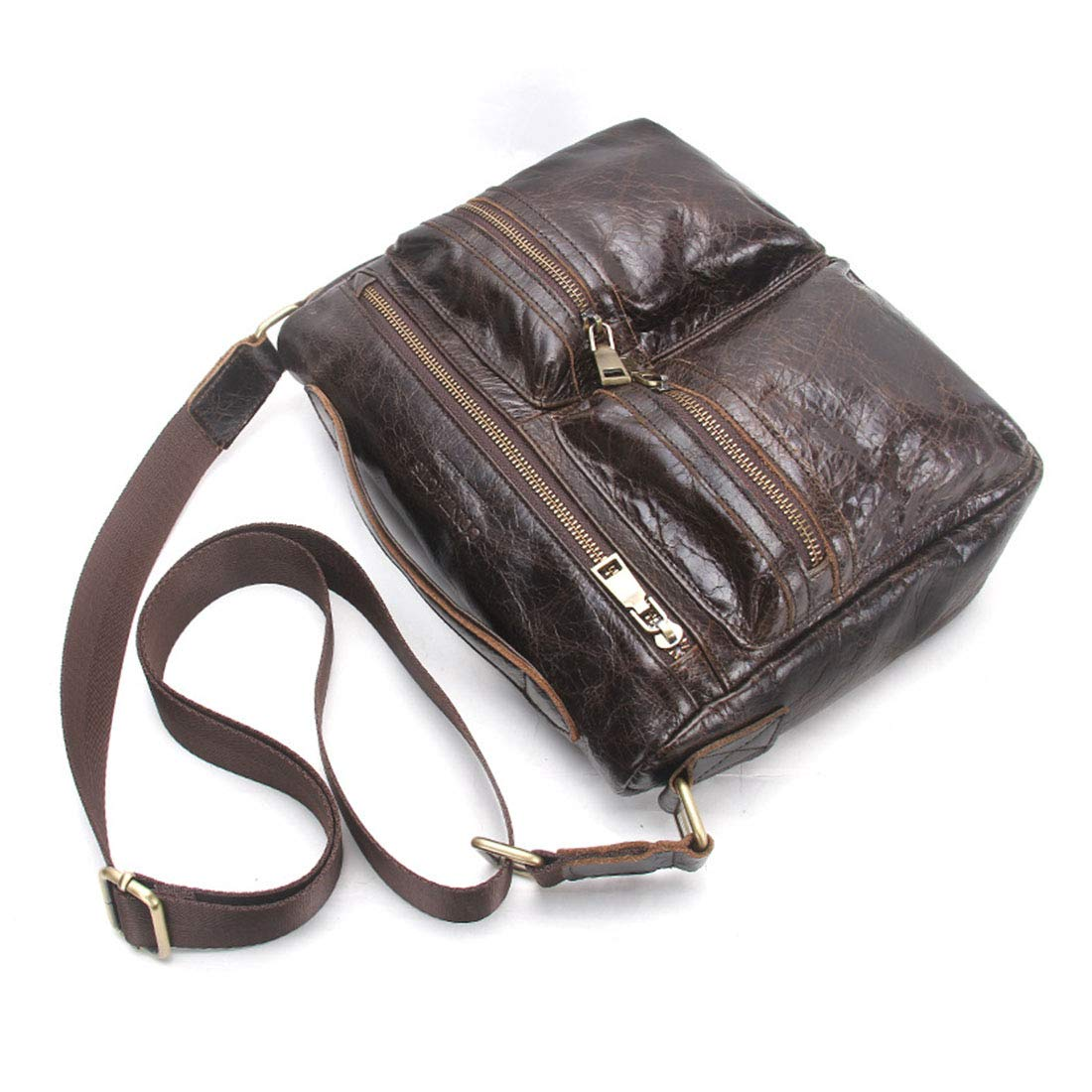 Carriemeow Mens Real Leather Leisure Business Briefcase//Handbag Color : Coffee Color