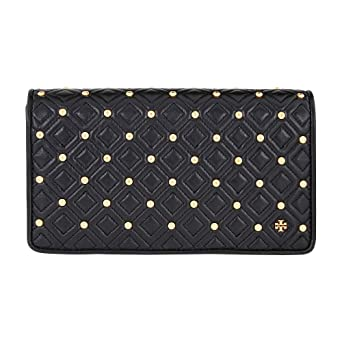 77a589fa0a2 Amazon.com  Tory Burch Fleming Ladies Large Leather Stud Clutch 45190001   Watches