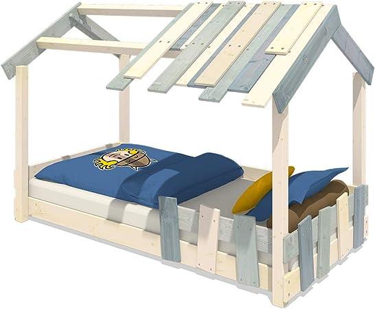 Cama para niños con techo WICKEY CrAzY Beach 90 x 200 cm: Amazon ...