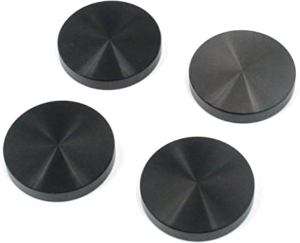 uxcell M10 Thread 50mm Diameter Round Shape Aluminum Disc Hardware 4pcs for Glass Table