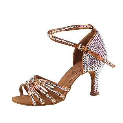 ultima collezione ultima selezione foto ufficiali XUE Scarpe da Donna Latino/Scarpe da Ballo Sandalo in Raso ...