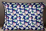 S4Sassy Blue Cotton Poplin Rectangle Poker Card Print 2 Pcs Cushion Cover Pillow Sham-20 x 28 Inches