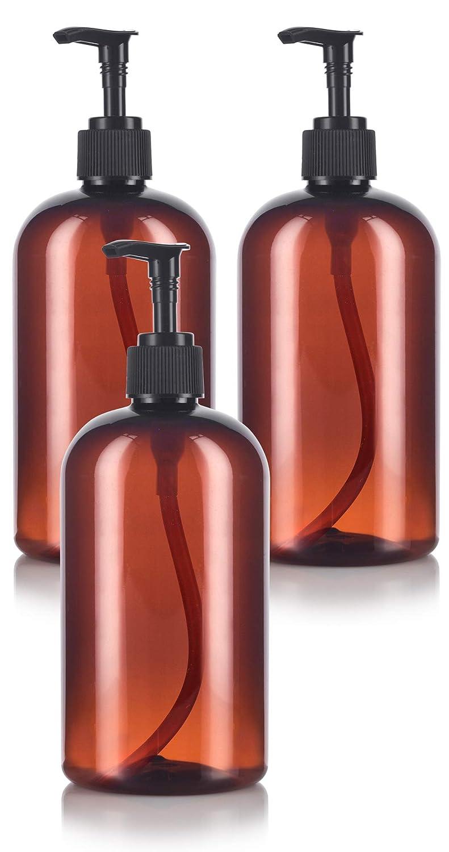 Shop Amber 16 oz Boston Round PET Plastic Bottles from Amazon on Openhaus