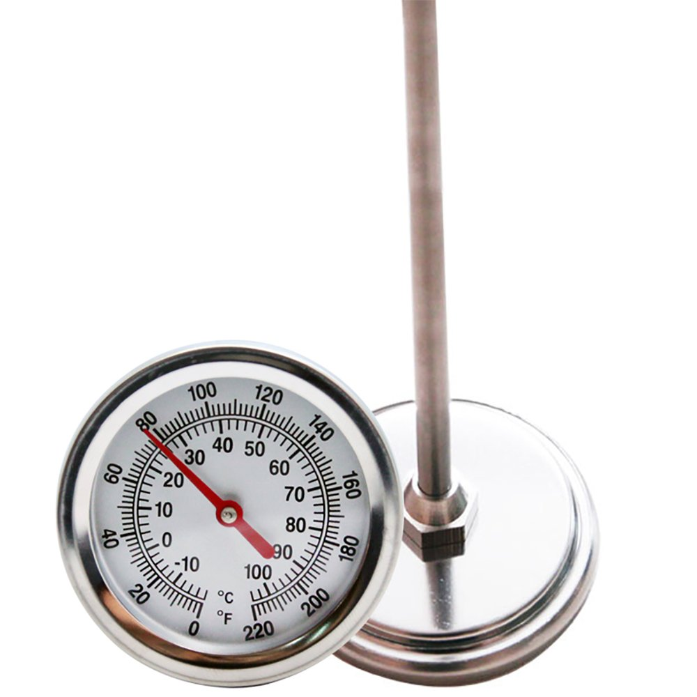Mr. Garden Compost Thermometer, Stainless Steel,Celsius and Fahrenheit Temperature Dial, 20 inch Stem
