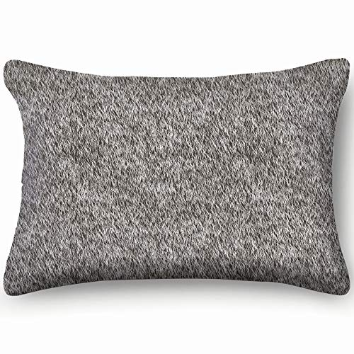 Grey Fur Abstract Skin Cool Super Soft and Luxury Pillow Cases Covers Sofa Bed Throw Pillow Cover with Envelope Closure 1624 Inch