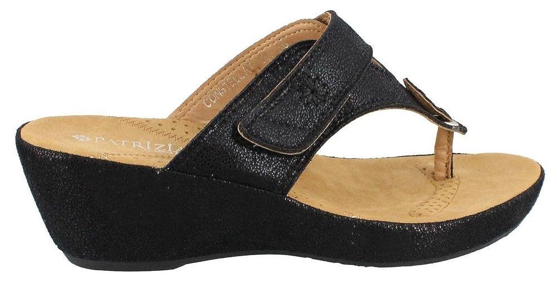Women's Patrizia Constellation Mid Heel thong Sandals BLACK 42 M Size 11 US